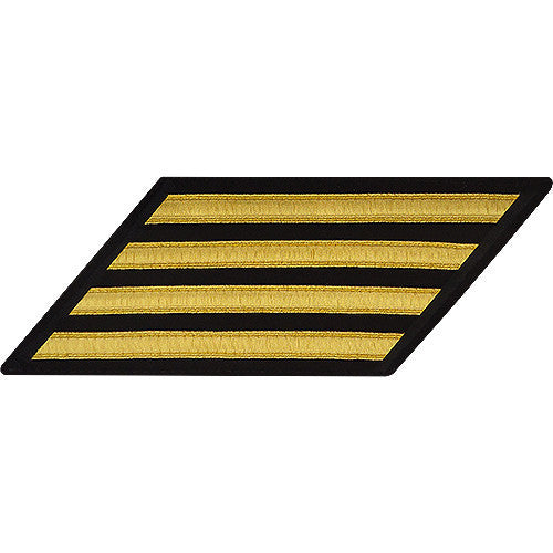 Navy Enlisted Hash Marks: Gold Lace on Serge - set of 4