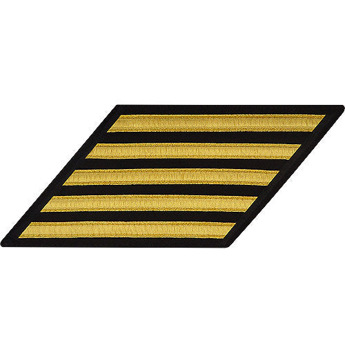 Navy Enlisted Hash Marks: Gold Lace on Serge - set of 5