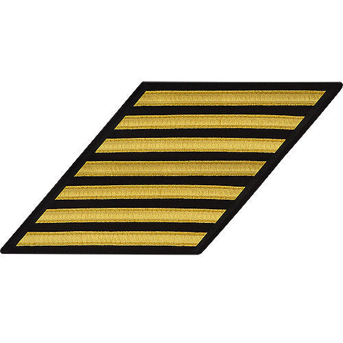 Navy Enlisted Hash Marks: Gold Lace on Serge - set of 7