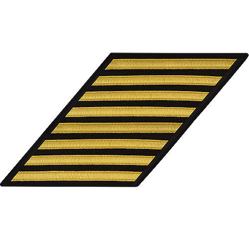 Navy Enlisted Hash Marks: Gold Lace on Serge - set of 8