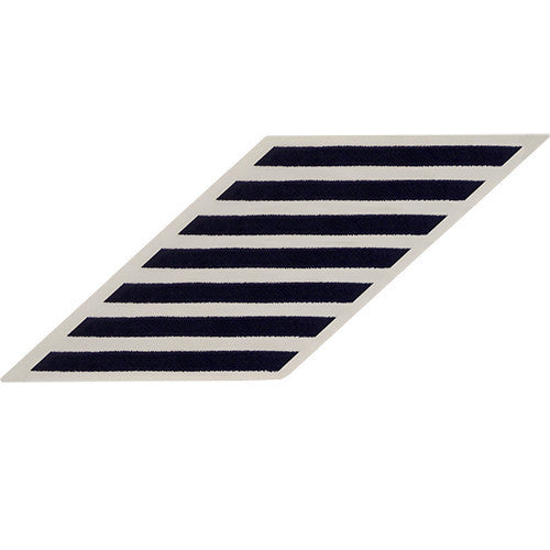 Navy Enlisted Hashmarks: Blue embroidered on White CNT - Set of 7