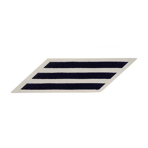 Navy Hash Marks: Blue Embroidered on White CNT - female, set of 3