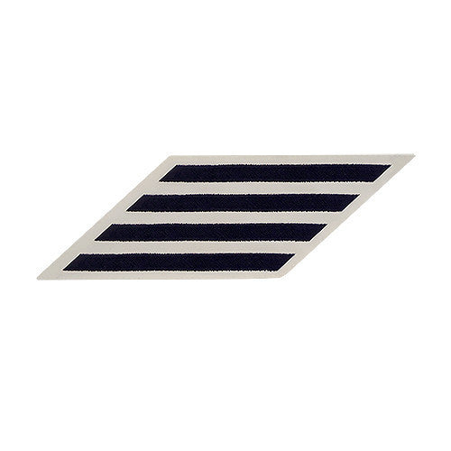 Navy Hash Marks: Blue Embroidered on White CNT - female, set of 4