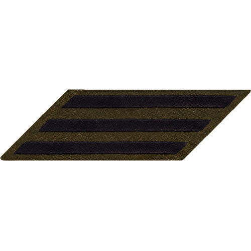 Navy Enlisted Hash Marks: Green Serge - set of 3