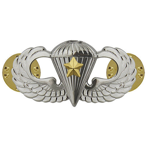 Army Badge: Combat Parachute Fifth Award - mirror finish