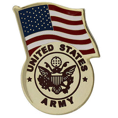 Army Lapel Pin: United States Flag with Army Emblem