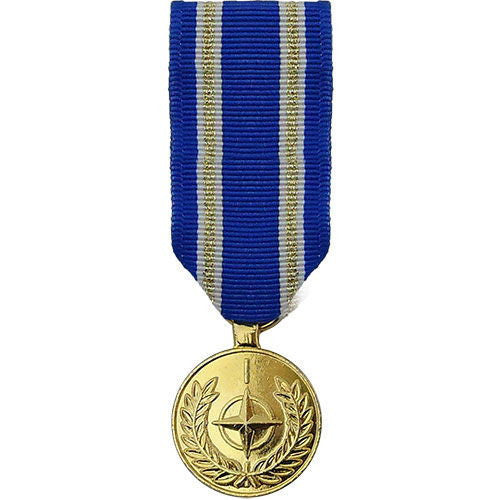 miniature Medal: Anodized NATO Article 5 Active Endeavour Medal