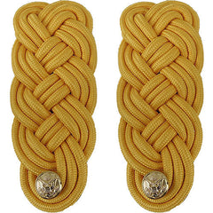 Army Shoulder Knot: Gold Color Rayon - male