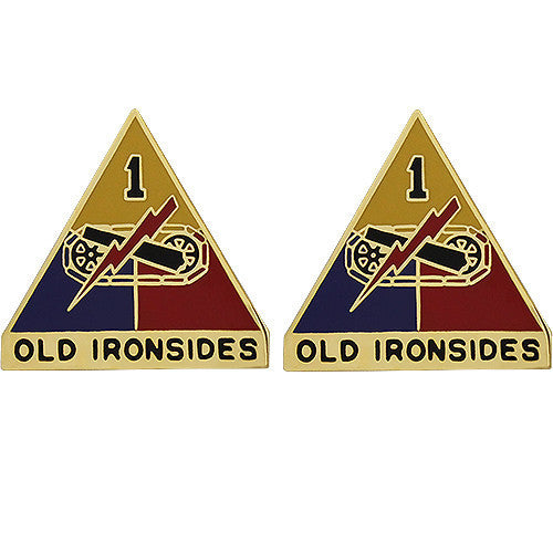 Army Crest: First Armored Division - Old Ironsides