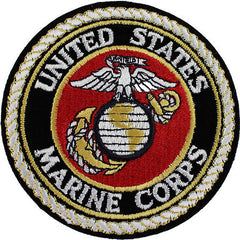 Marine Corps Shoulder Patch: Globe and Anchor - black