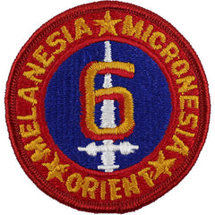 Marine Corps Shoulder Patch: Sixth Division - color