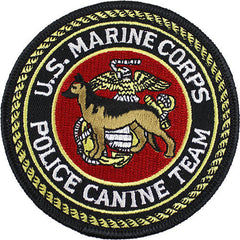 Marine Corps Shoulder Patch: U.S.M.C. Police Canine Team