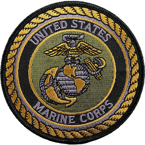 Marine Corps Shoulder Patch: United States Marine Corps (NON-RETURNABLE)