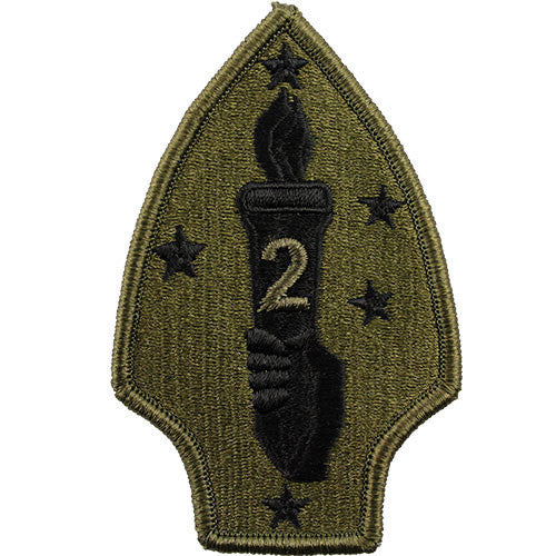 Marine Corps Shoulder Patch: Second Division - subdued (NON-RETURNABLE)