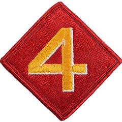 Marine Corps Shoulder Patch: Fourth Division - color
