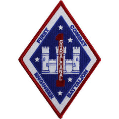 Marine Corps Patch: First Combat Engineer Battalion - color
