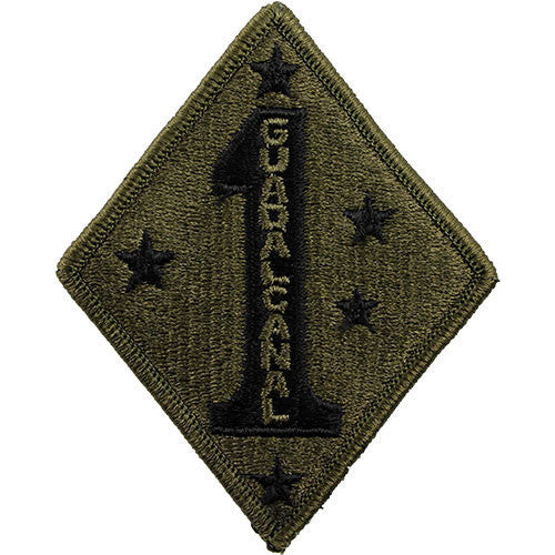 afeb7a5e170 Marine Corps Shoulder Patch  First Division - subdued (NON-RETURNABLE)