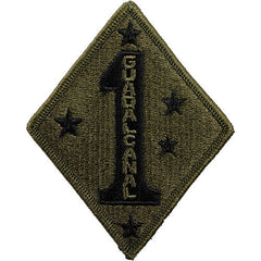 Marine Corps Shoulder Patch: First Division - subdued (NON-RETURNABLE)