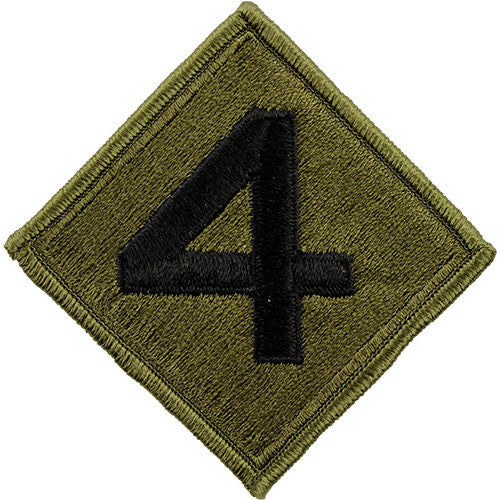 Marine Corps Shoulder Patch: Fourth Division - subdued (NON-RETURNABLE)