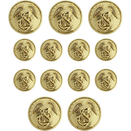 Marine Corps Button Set: Officer - (8-27 Ligne and 5-40 Ligne)