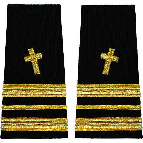 Navy Soft Shoulder Mark: Lieutenant Commander Christian Chaplain