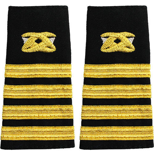 Navy Soft Shoulder Mark: Captain Civil Engineer