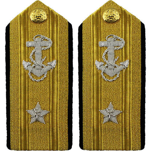 Navy Shoulder Board: Line Rear Admiral Lower 1 Star - male