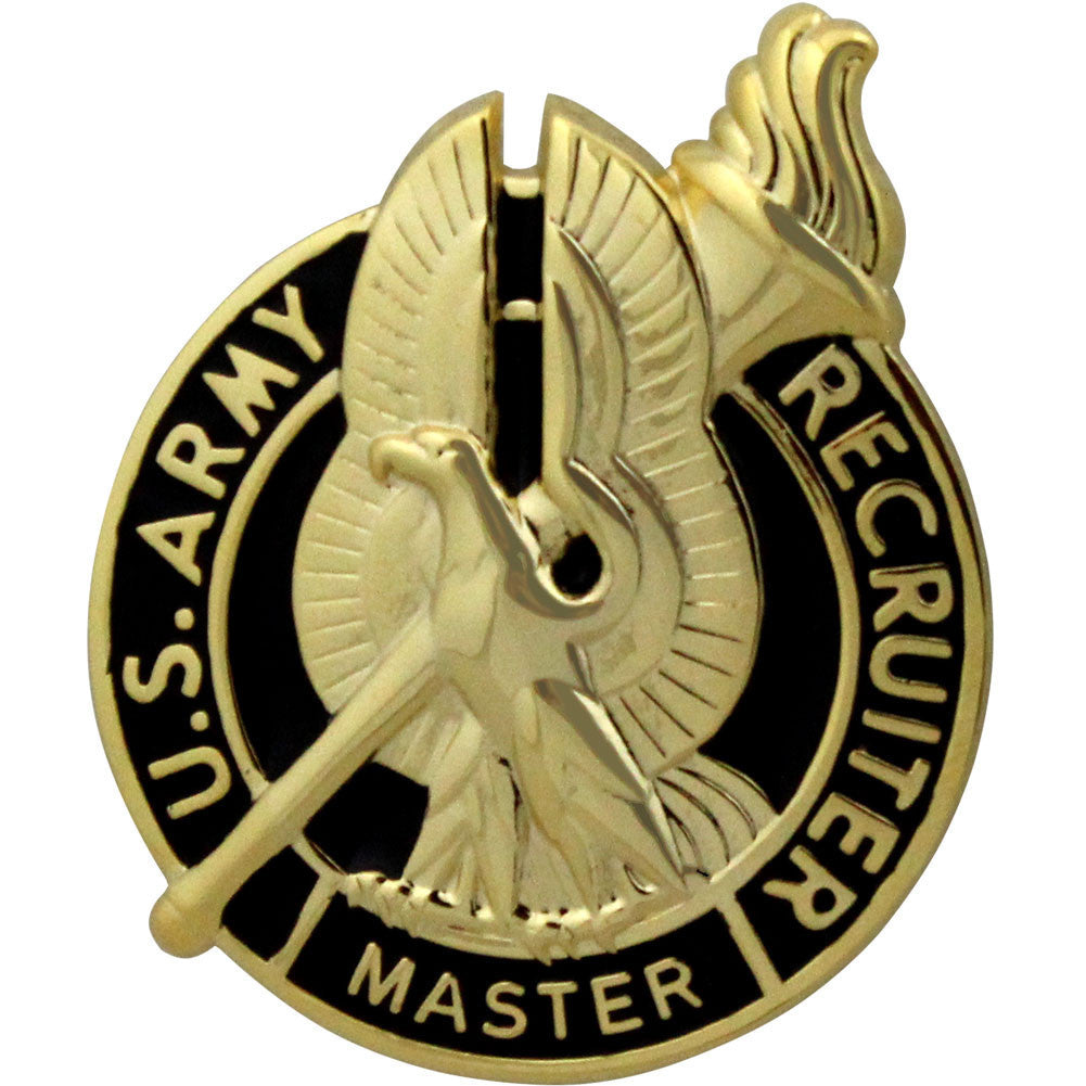 Army Identification Badge: Master Recruiter - gold
