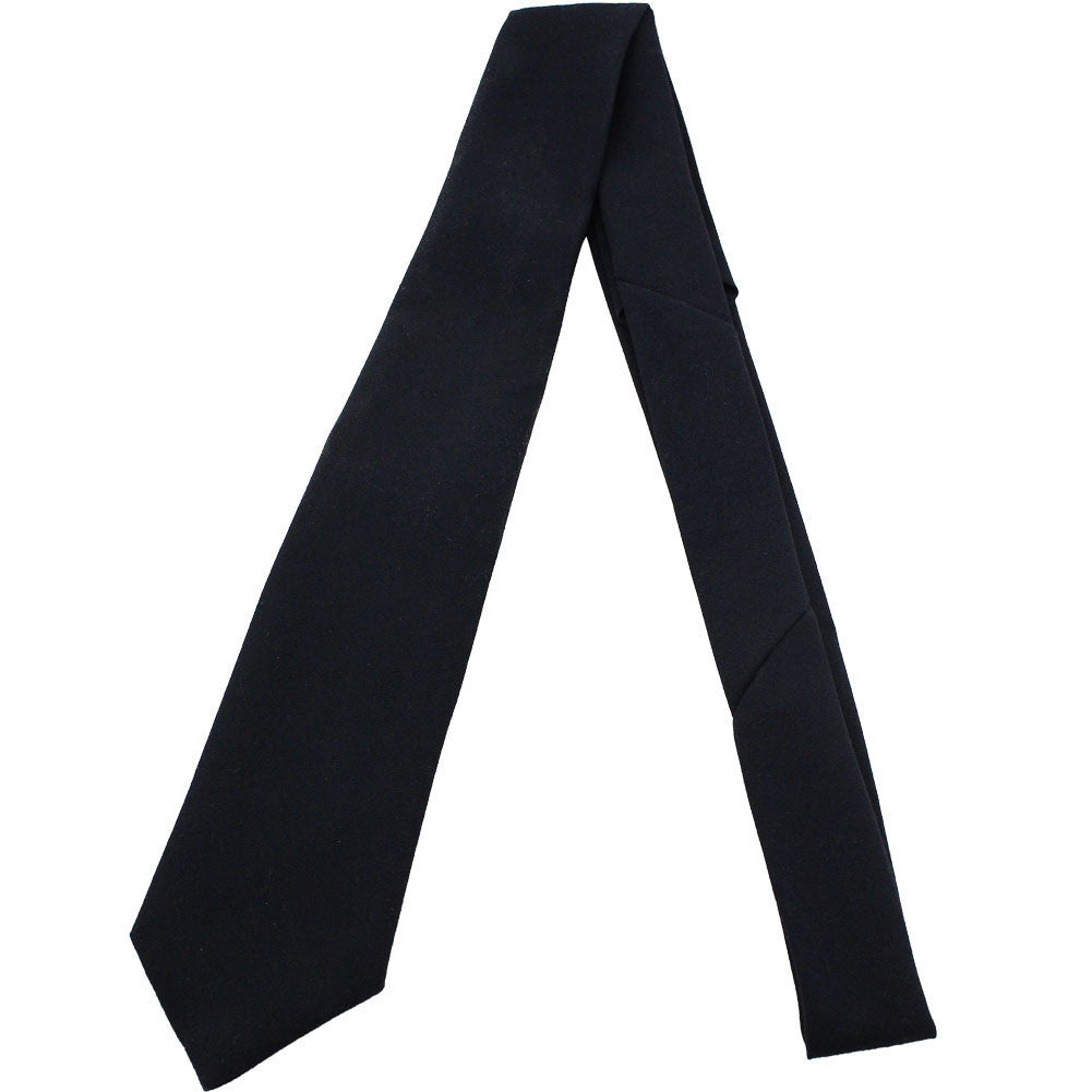 Army Tie: 4 In Hand - black extra long length