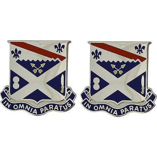 Army Crest: 18th Infantry Regiment - In Omnia Paratus