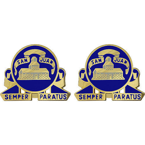 Army Crest: 24th Infantry Regiment - Semper Paratus (San Juan)