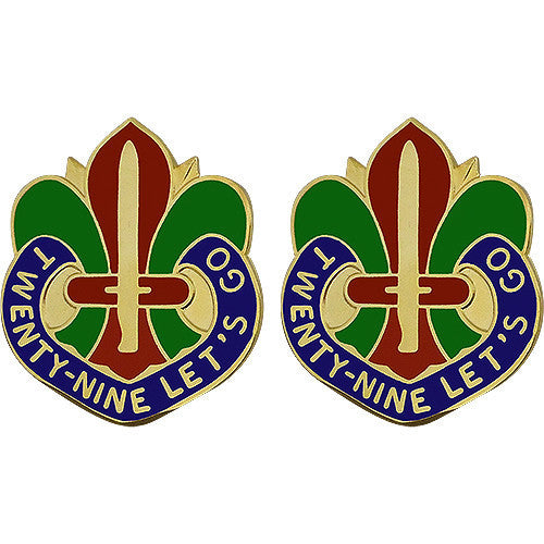 Army Crest: 29th Infantry Division - Twenty-Nine Let's Go