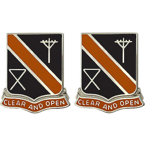 Army Crest: 29th Signal Battalion - Clear and Open