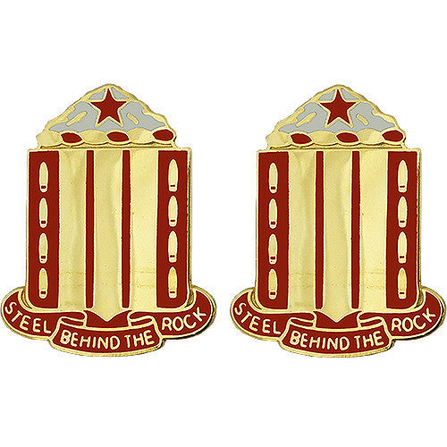 Army Crest: 38th Field Artillery - Steel Behind The Rock