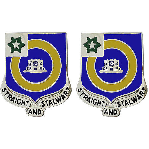 Army Crest: 41st Infantry Regiment - Straight and Stalwart