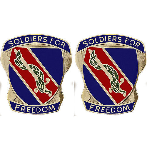 Army Crest: 43rd Adjutant General Battalion - Soldiers for Freedom