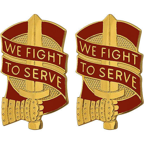 Army Crest: 45th Sustainment Brigade - We Fight to Serve
