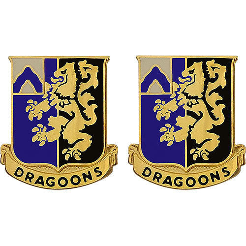 Army Crest: 48th Infantry Regiment - Dragoons