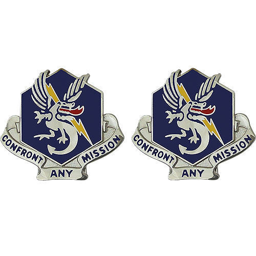 Army Crest: 83rd Chemical Battalion - Confront Any Mission