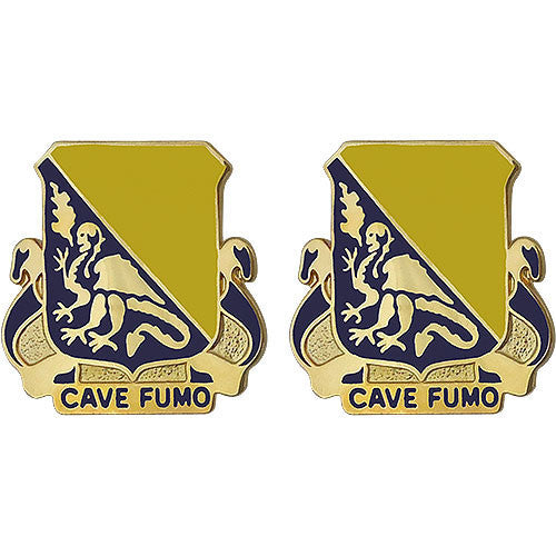 Army Crest: 84th Chemical Battalion - Cave Fumo