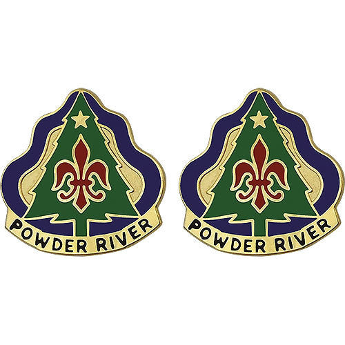 Army Crest: 91st Division Training - Powder River