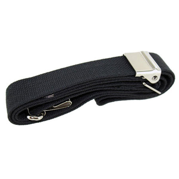 Rifle Sling: Black web with nickel hardware