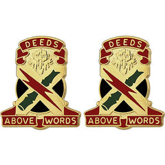 Army Crest: 108th Air Defense Artillery - Deeds Above Words
