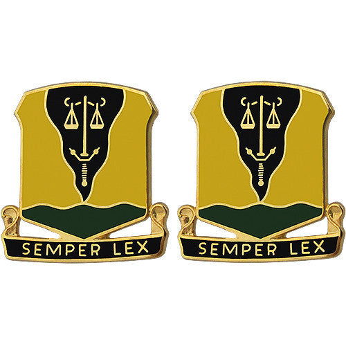 Army Crest: 125th Military Police Battalion - Semper Lex