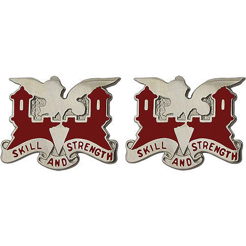 Army Crest: 130th Engineer Battalion - Skill and Strength