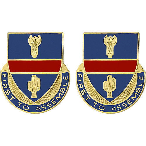 Army Crest: 162nd Infantry (ARNG OR) - First to Assemble