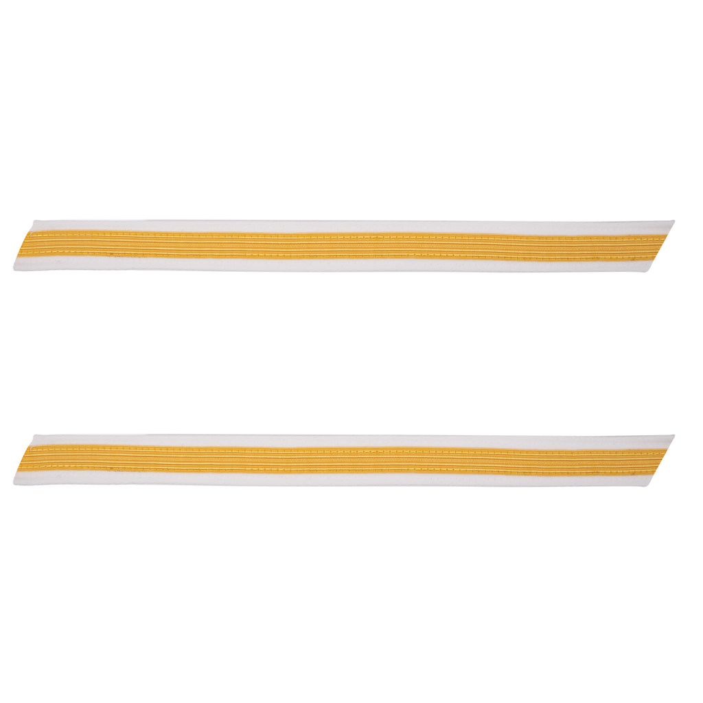 Army Service Stripe: Gold Embroidered on White - male, set of 1