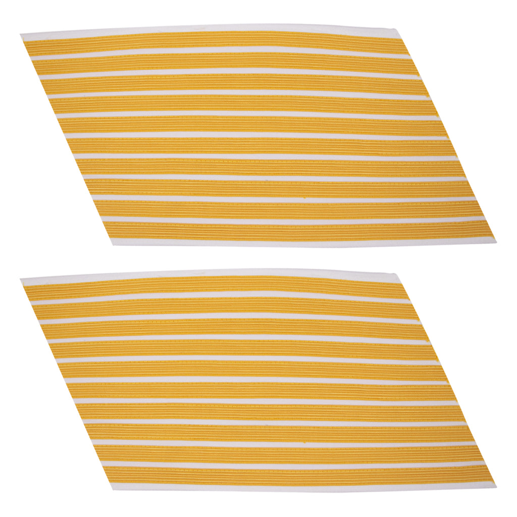 Army Service Stripe: Gold Embroidered on White - male, set of 10