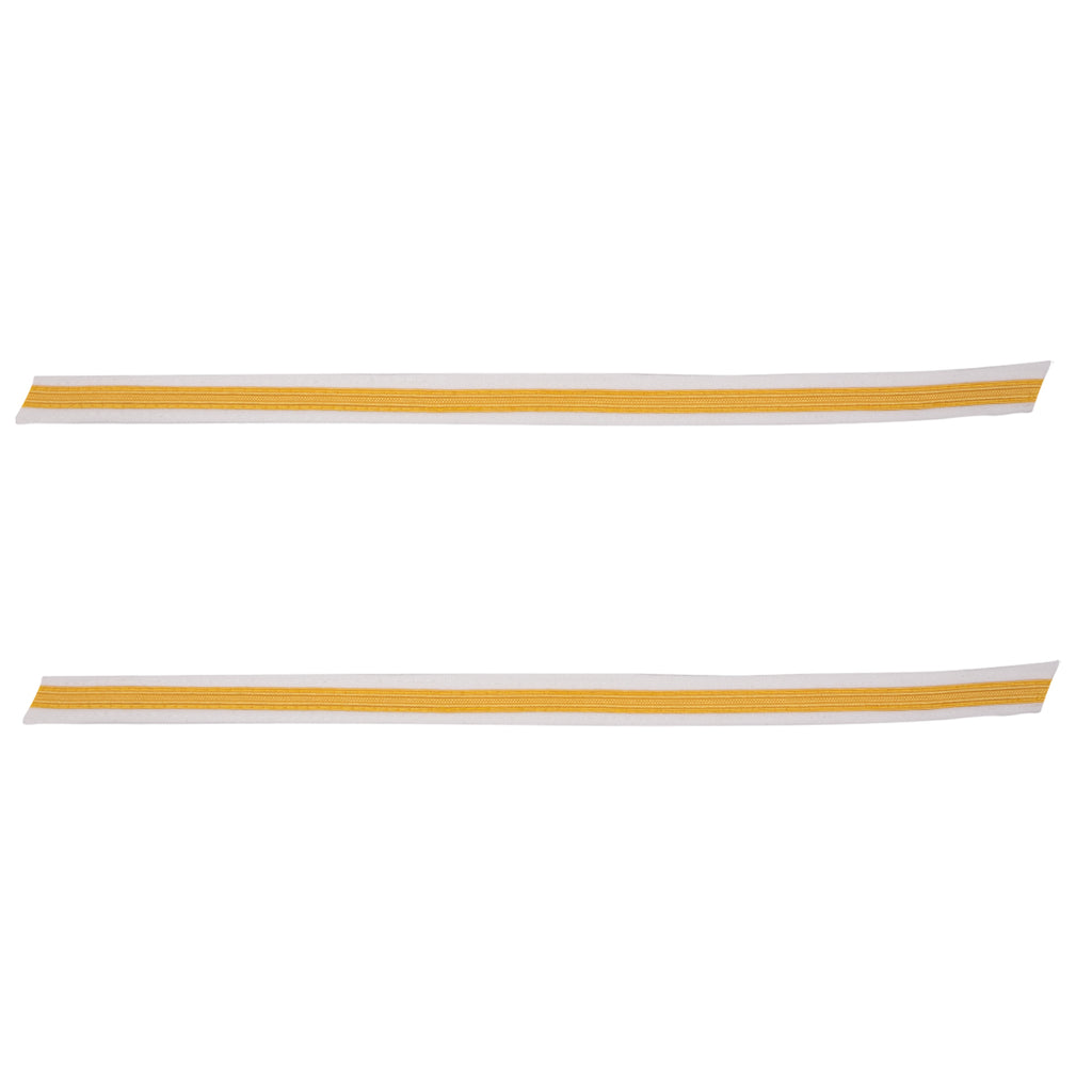 Army Service Stripe: Gold Embroidered on White - female, set of 1