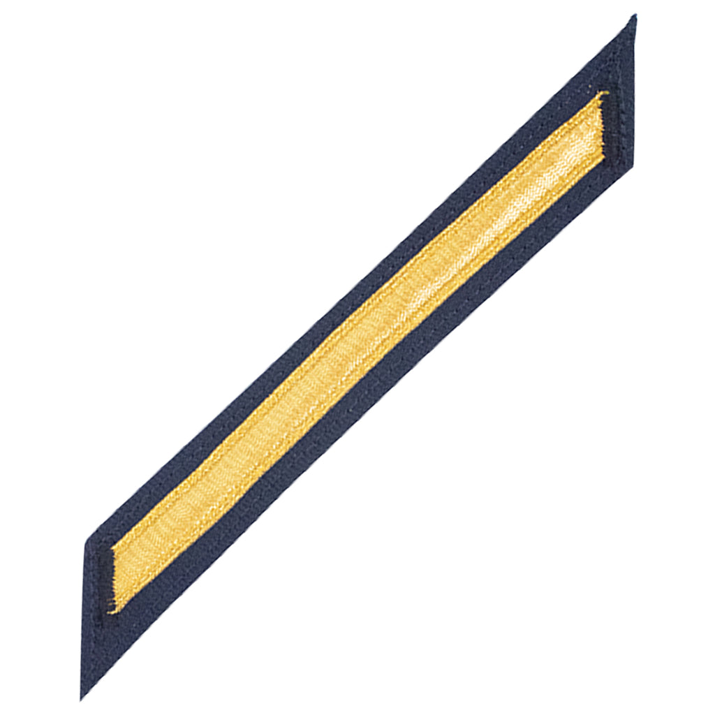 Coast Guard CPO Hash Marks: Gold Lace on Blue - Set of 1